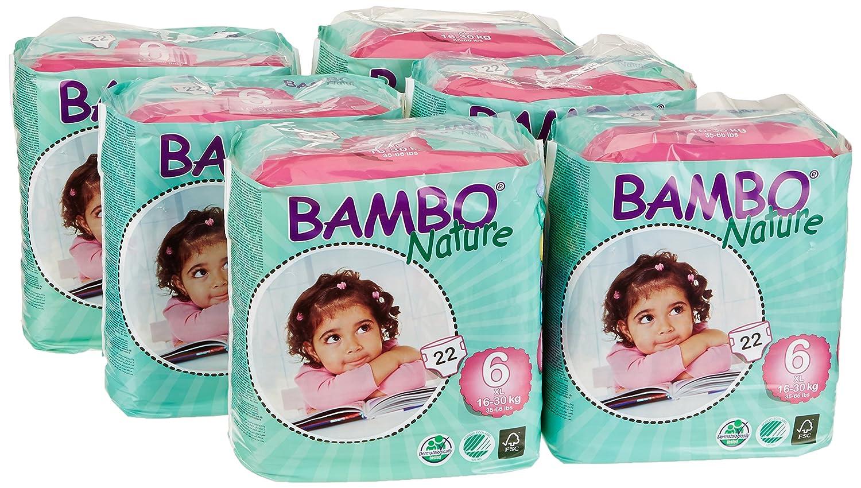 7-18 kg 3 x 60 St/ück 3er Pack Gr.4 Bambo Nature Windeln Maxi Tall