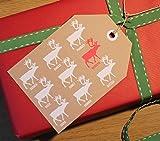 Santa's Reindeer Giant Christmas Gift Tags 10 Pack