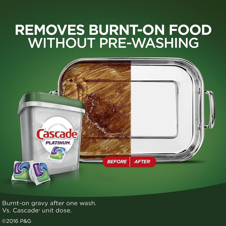 Cascade Platinum ActionPacs - Detergente para lavavajillas ...