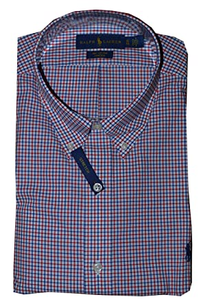 610a66e38f56 Polo Ralph Lauren Long Sleeve Gingham Poplin Classic Fit Cotton Stretch Oxford  Shirt at Amazon Men s Clothing store