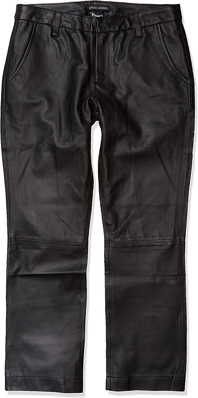 David Lerner Womens Leather Chino