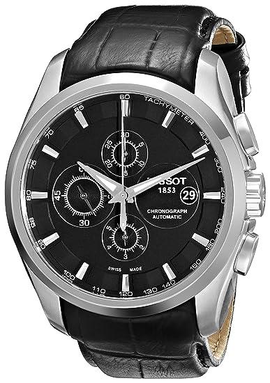 Tissot Couturier - Reloj de Caballero automático, Correa de Piel Color Negro: Amazon.es: Relojes