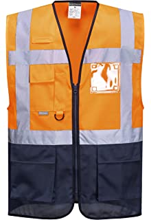 Islander Fashions Adult High Visibility Waistcoat Mens Sports Ropa de Trabajo Safety Reflective Vest M/5XL