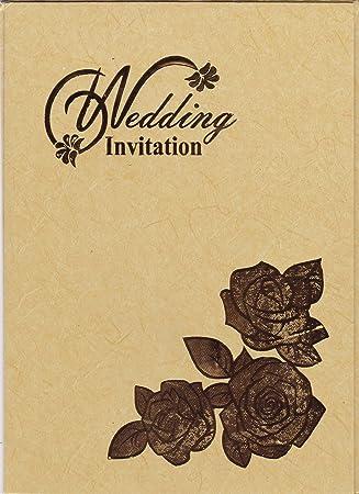 Divine Caard Gold Color Unique Golden Invitation Design