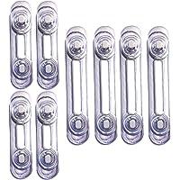 VegMai®[8 Unidades] Cerraduras Transparentes De Seguridad Para Bebes, Bloqueo Con Adhesivo, Cierres Para Armarios…