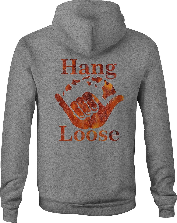 Travel Zip Up Hoodie Hawaiian Hang Loose Hooded Sweatshirt for Men