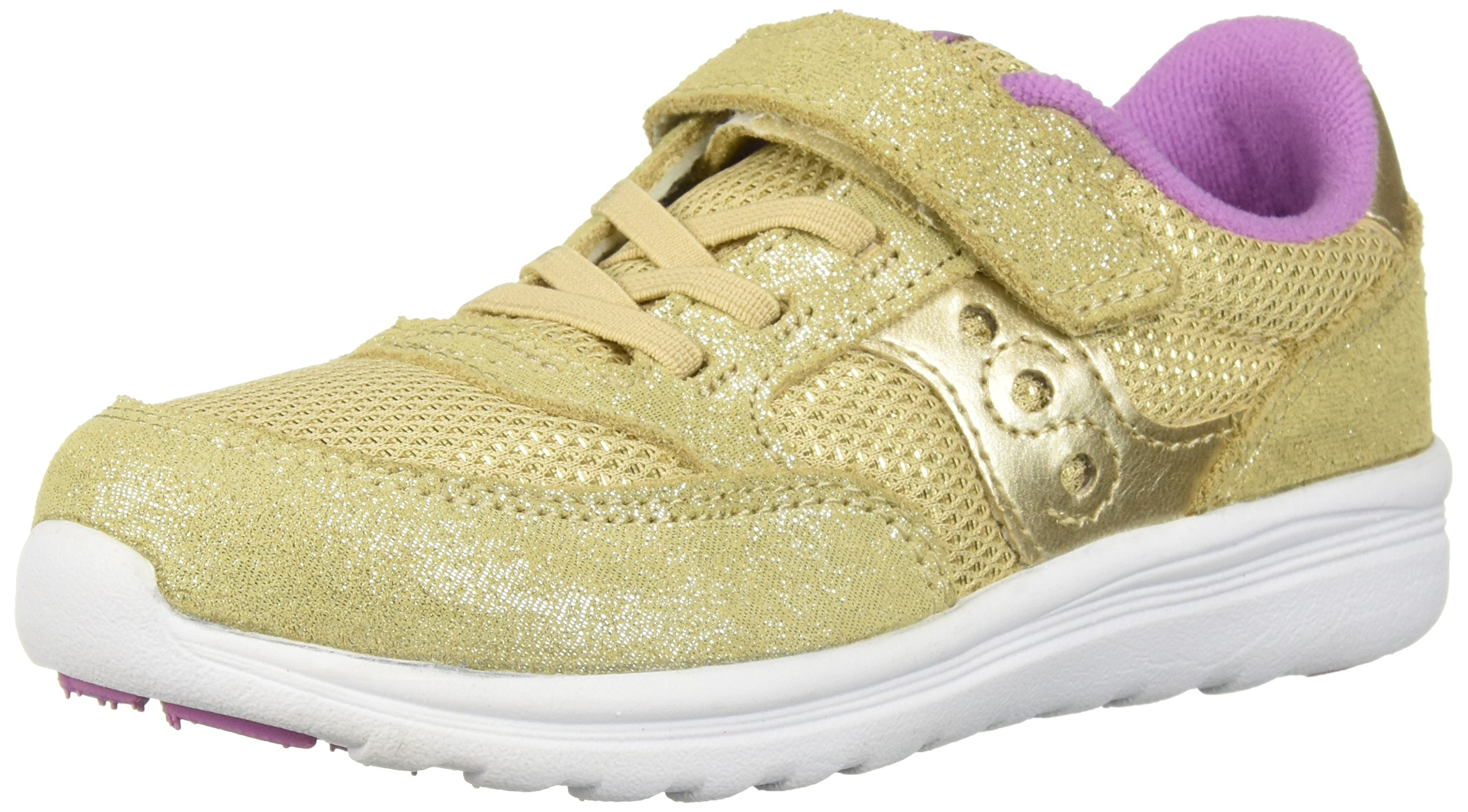 Saucony Girls' Baby Jazz Lite Sneaker, Gold