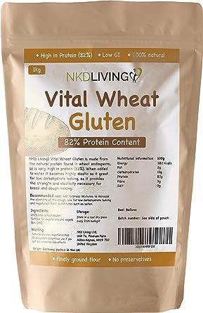 Gluten de trigo vital 1 kg por NKD Living con 82% de ...