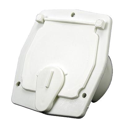 JR Products S-27-10-A White 30 Amp Square Electric Cable Hatch: Automotive