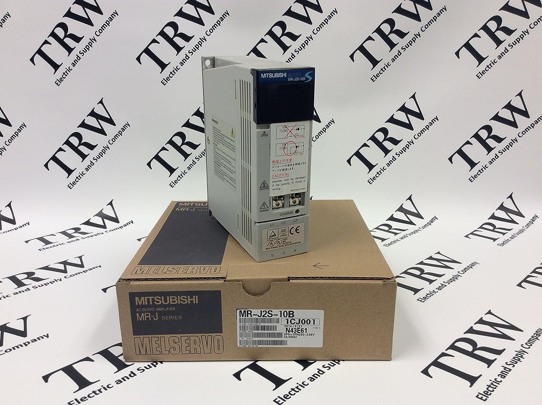 1.1 AMP Input: 0.9-1.3 AMP 100 WATTS 50//60 HZ 0-360 HZ AC SERVO MITSUBISHI MR-J2S-10B 200-230 VAC Output: 170 V SERVO Amplifier