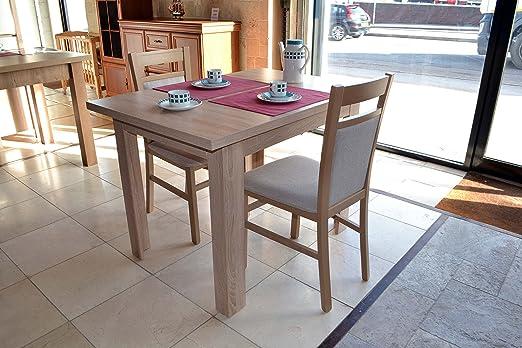 Pequeña mesa de comedor extensible roble sonoma ideal para ...