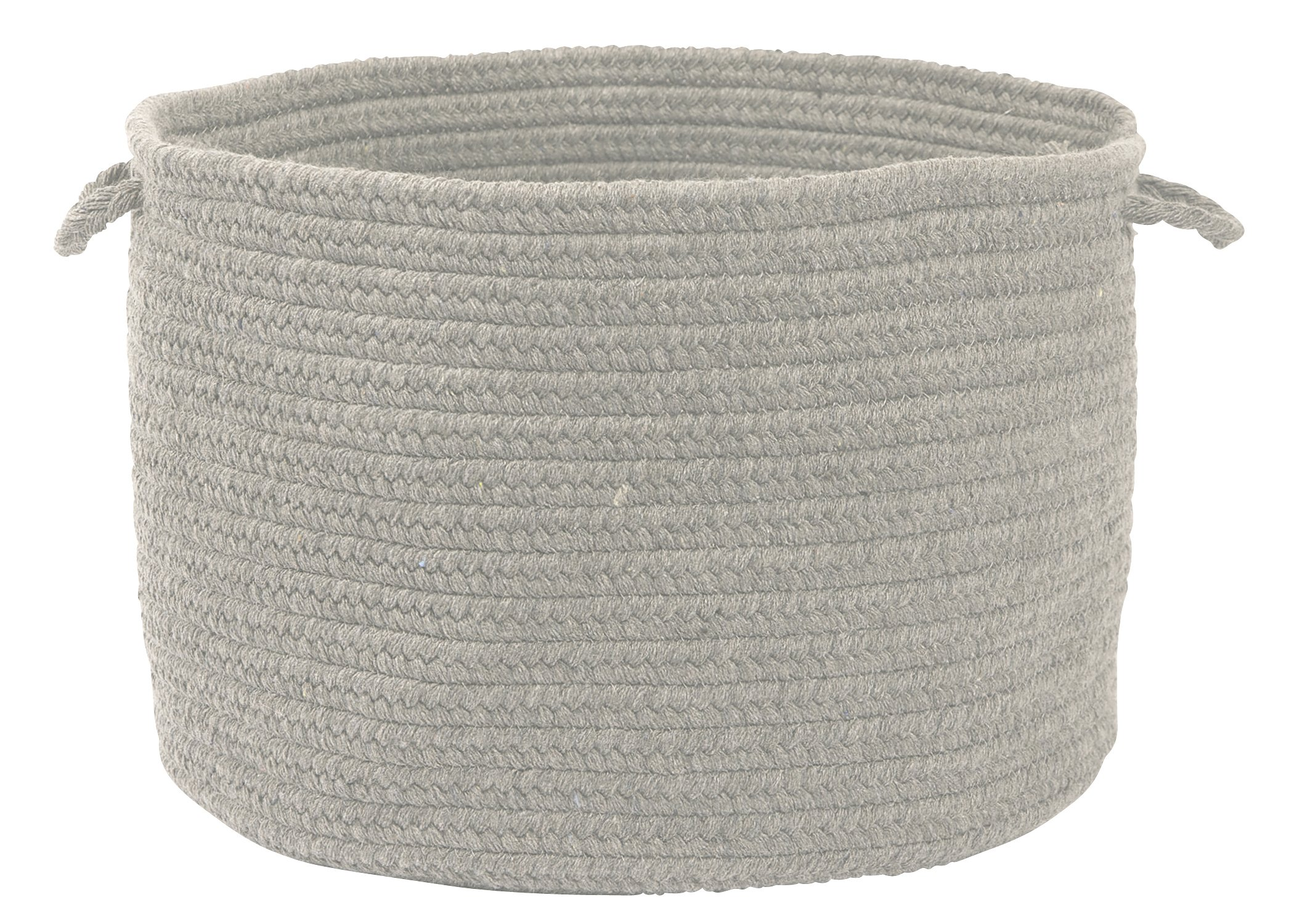 Colonial Mills WL18 18 by 18 by 12-Inch Bristol Storage Basket, Gray - Wool: Wool yarns create a texturized, heathered look with unmatched quality, durability, and timeless style. Functional Decor: Use simultaneously as a decorative accent to your design style and as a practical addition to your home Handcrafted: Manufactured at our factory in Rhode Island, this item is made-to-order and handcrafted with a personal touch of American craftsmanship. - living-room-decor, living-room, baskets-storage - 91oKliqZSiL -
