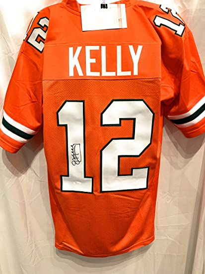 buy popular 6e090 d785a Jim Kelly Miami Hurricanes Signed Autograph Custom Jersey ...