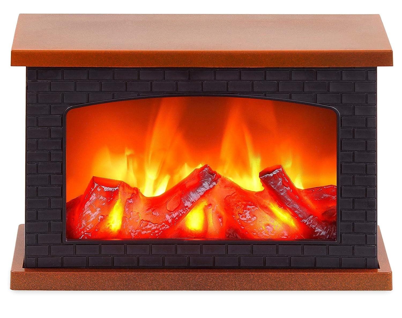 #BRUBAKER LED Tischkamin – LED-Flammeneffekt – Schwarz Braun – 20 x 30 cm#