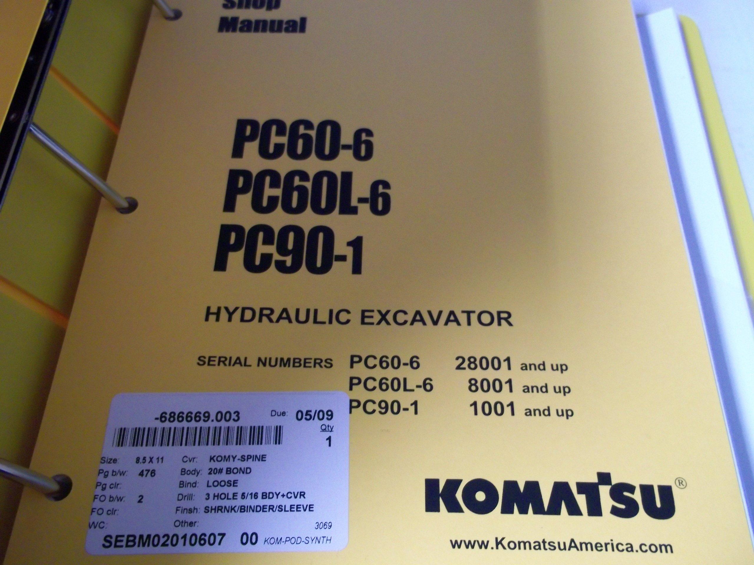 Komatsu PC60-6, PC60L-6, PC90-1 Hydraulic Excavator Service Manual