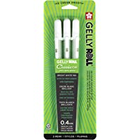 Gelly Roll Sakura 37488 Blister Card Gel Ink Pen Set, Medium Point, White, 3-Piece