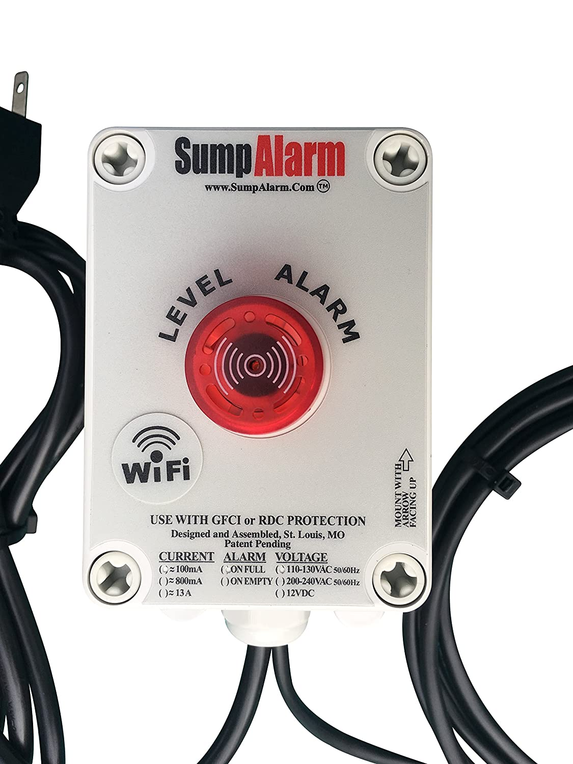 Wireless Wifi In Outdoor Sump Pump Or Septic Tank Monitor High Wiring Diagram For Alarm Low Level