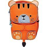 Trunki Toddler's Backpack – Hi-Viz Children's Pre School Rucksack - ToddlePak Tipu Tiger (Orange)