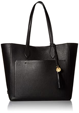 2d5cef1361 Amazon.com: Cole Haan Piper Leather Tote Bag, Black: Clothing