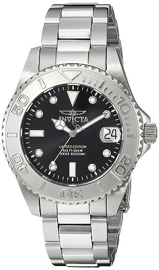 Invicta 24631 Pro Diver Reloj para Mujer acero inoxidable Cuarzo Esfera negro: Amazon.es: Relojes