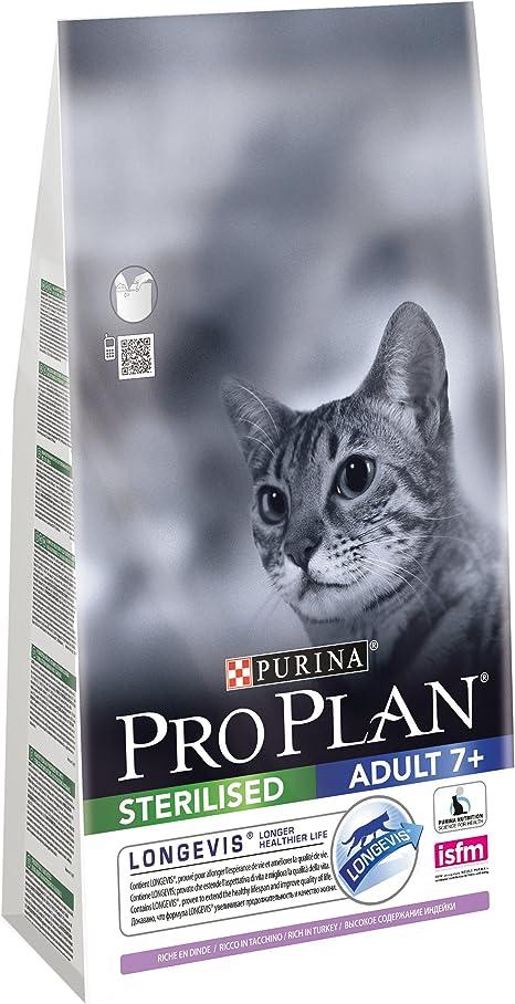 PURINA Pro Plan Comida Seco para Gato Esterilizado 7+ con Longevis ...