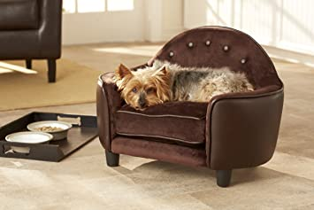 Enchanted Home Pet Ultra Plush Headboard Bed, 25.25 by 15.75 by 17.75-Inch,