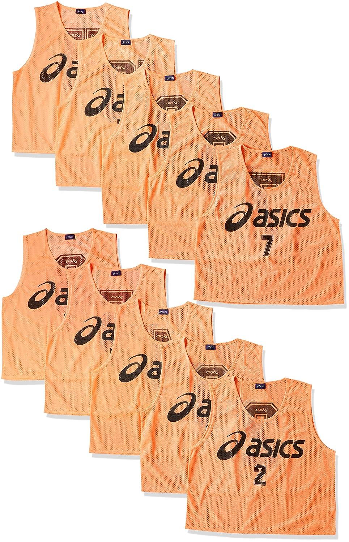 [アシックス] サッカーウエア ビブス(10枚セット) [メンズ] XSG060 B0016U1WSM 日本 F (FREE サイズ)|フラッシュオレンジ フラッシュオレンジ 日本 F (FREE サイズ)