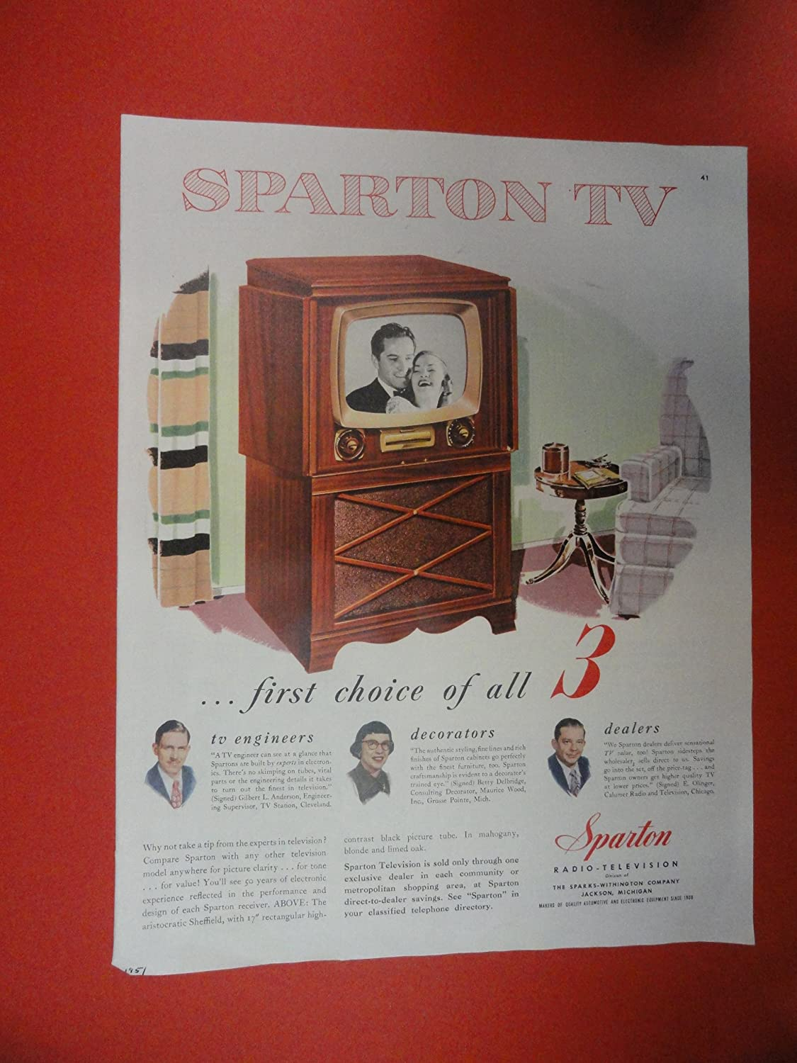 Amazon.com: Sparton TV Print Ad. TV in living room Orinigal ... on home sofa sleepers, home mirrors, home kitchen, home design, home cell phones, home art collection, home health, home walls, home upholstery fabric, home windows, home funeral services, home garden ideas, home garden trees, home roof systems, home bed, home decor, home appliances, home furnishings, home countertops,