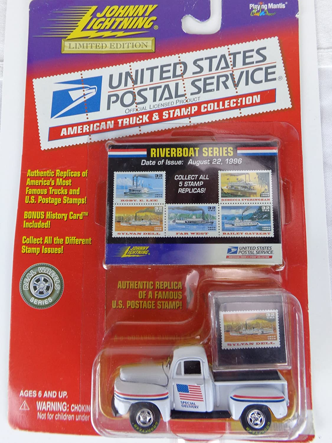 5e3e49bfb5 Amazon.com  Johnny Lightning United States Postal Service American Truck    Stamp Collection. Riverboat Series 1950 Ford F-1  Toys   Games