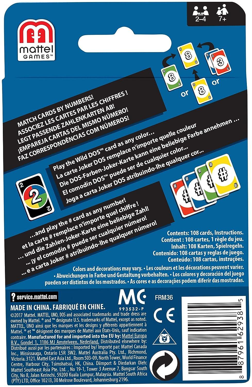 Mattel Games Dos Juego De Cartas De Uno Mattel Frm36 Amazon Es