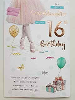 For A Special Granddaughter On Your 16th Birthday Card