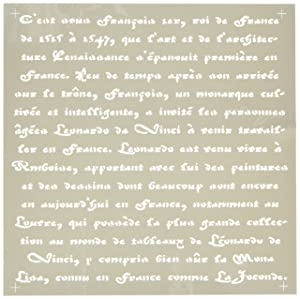 DecoArt Americana Decor Stencil, Old French Script