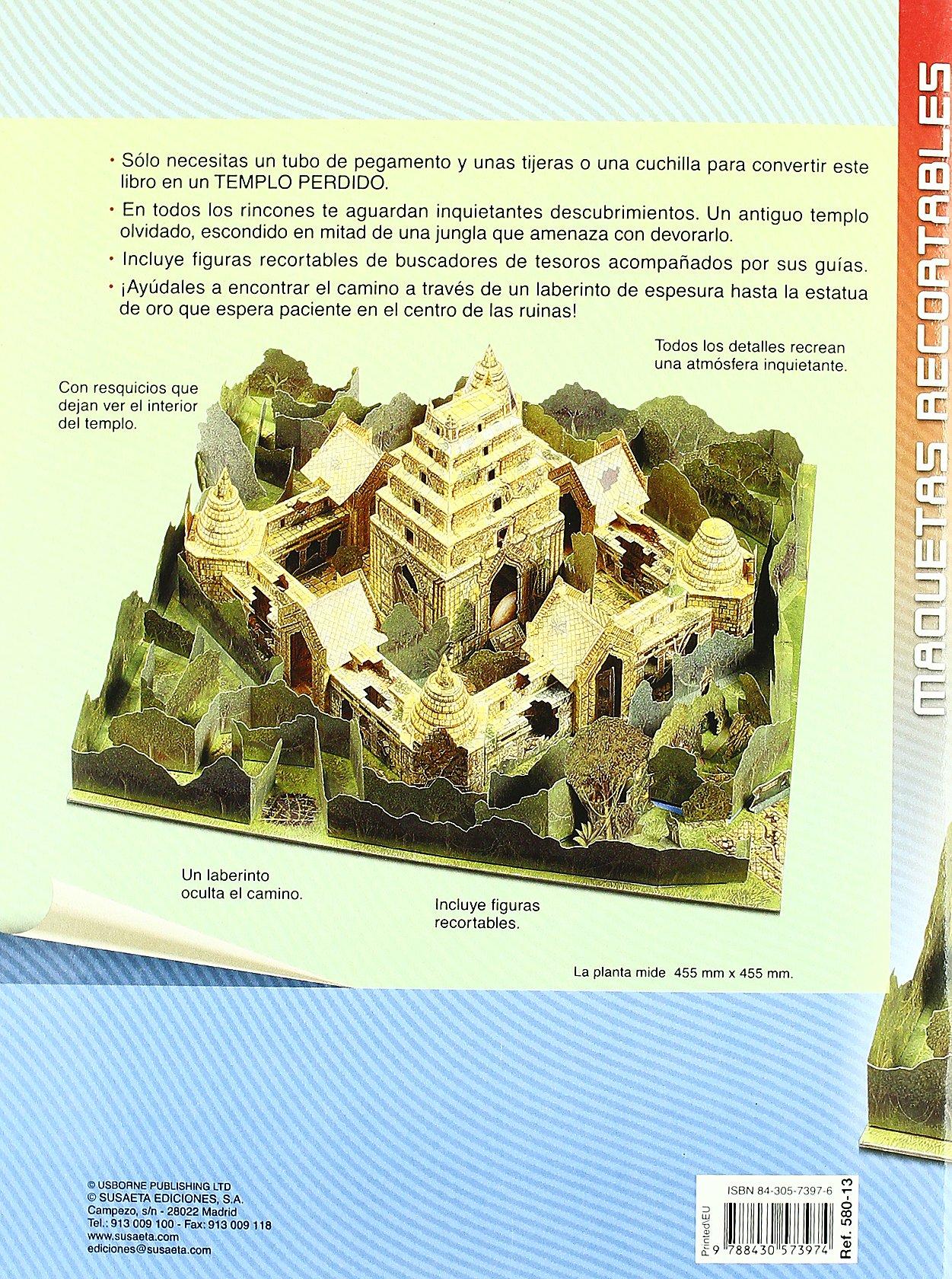 Construye el templo perdido (Maquetas Recortables): Amazon ...