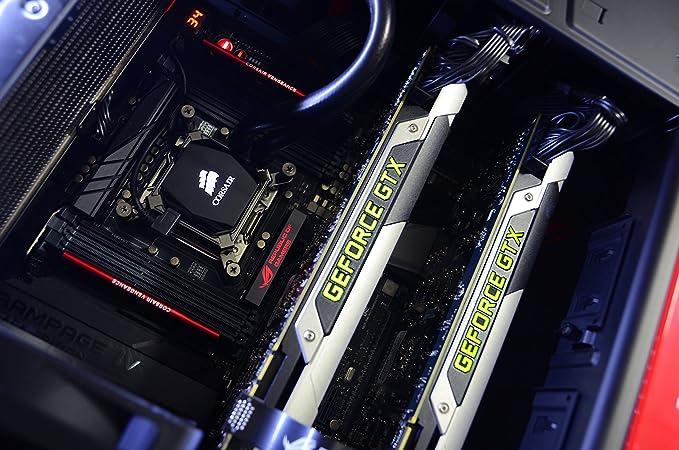 VIBOX Legend ensamblados 5 Gaming PC con Juegos War Thunder, 27 HD Monitor, 4.4 GHz Intel i7 Quad Core procesador, 2 x NVIDIA GeForce GTX 980 Ti SLI ...