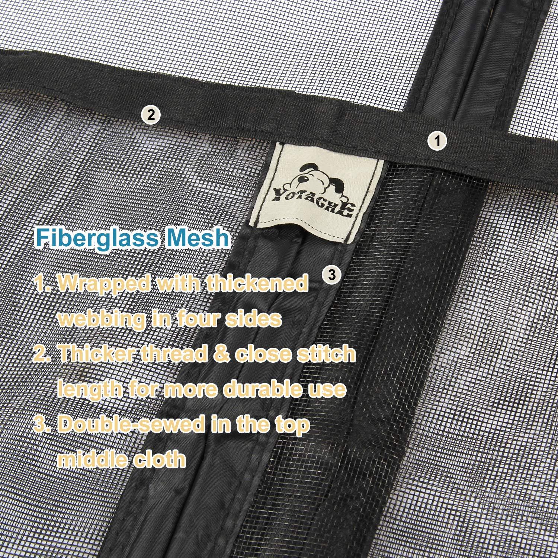 Wide Door Screen with Magnets 72 Retractable Mosquito Net Hanging Tools Free Installation Fit Doors Size Up to 72W x 82H Patio Walk Thru Sliding Door Yotache