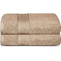 TRIDENT Soft and Plush, 100% Cotton, Highly Absorbent, Super Soft, 2 Piece Bath Towel Set, 500 GSM, Acorn