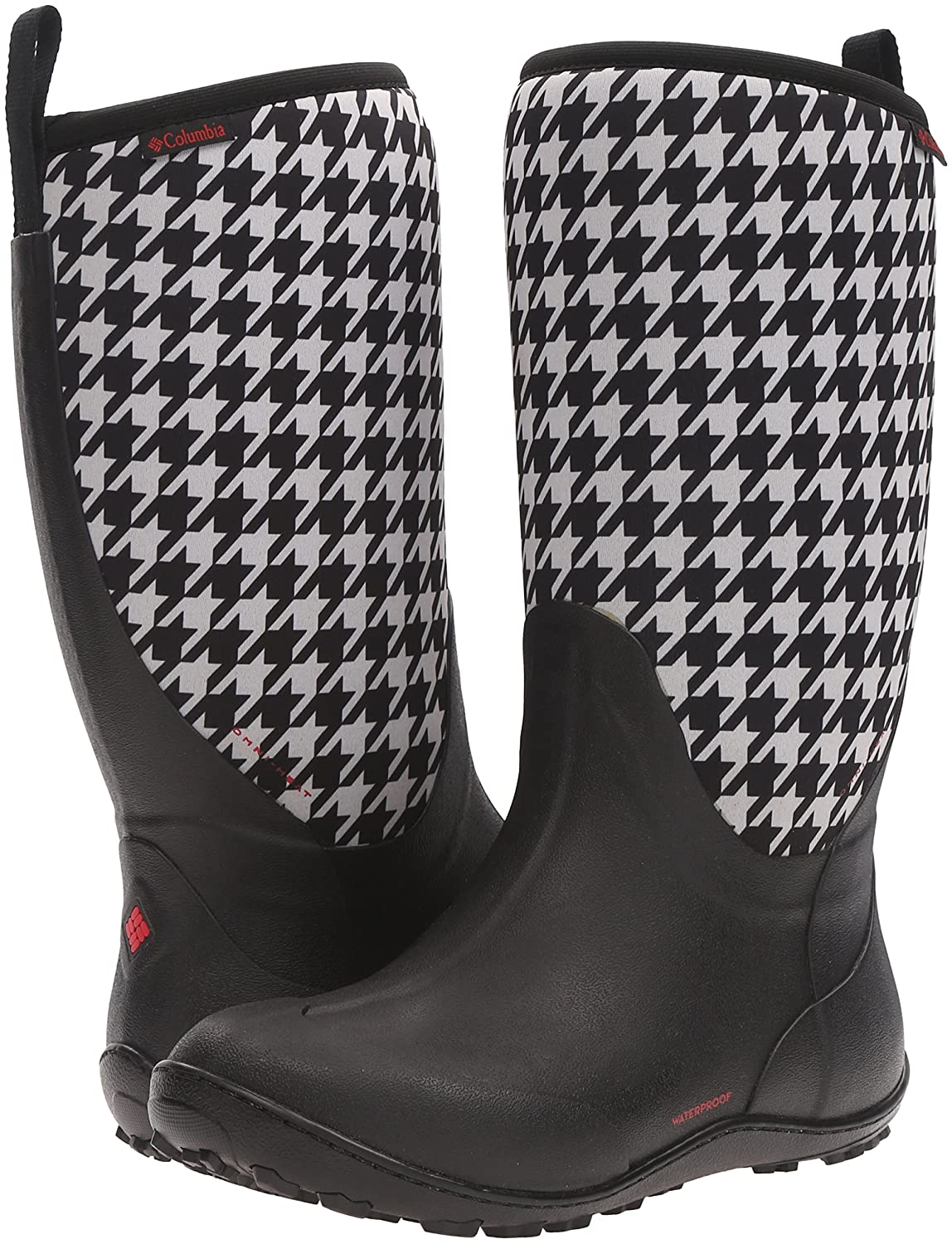 Columbia Women's Snowpow Tall Print Omni-Heat Snow Boot B0183QCA78 8 B(M) US|Black/Burnt Henna