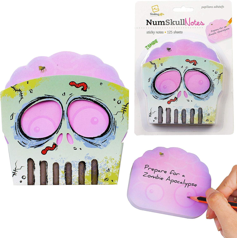 Numskull Notes Novelty Zombie Sugar Skull Sticky Notes Stationary Holder Pot Desk Tidy - Zombie Notes