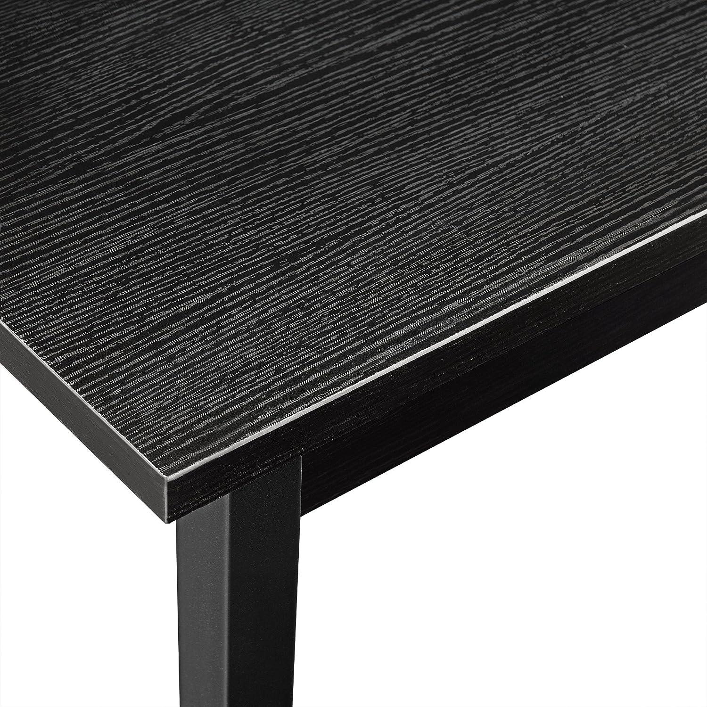 Tavolo da Pranzo Moderno Nero 140 x 60 cm en.casa