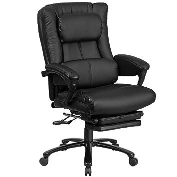 Amazoncom Flash Furniture High Back Black Leather Executive