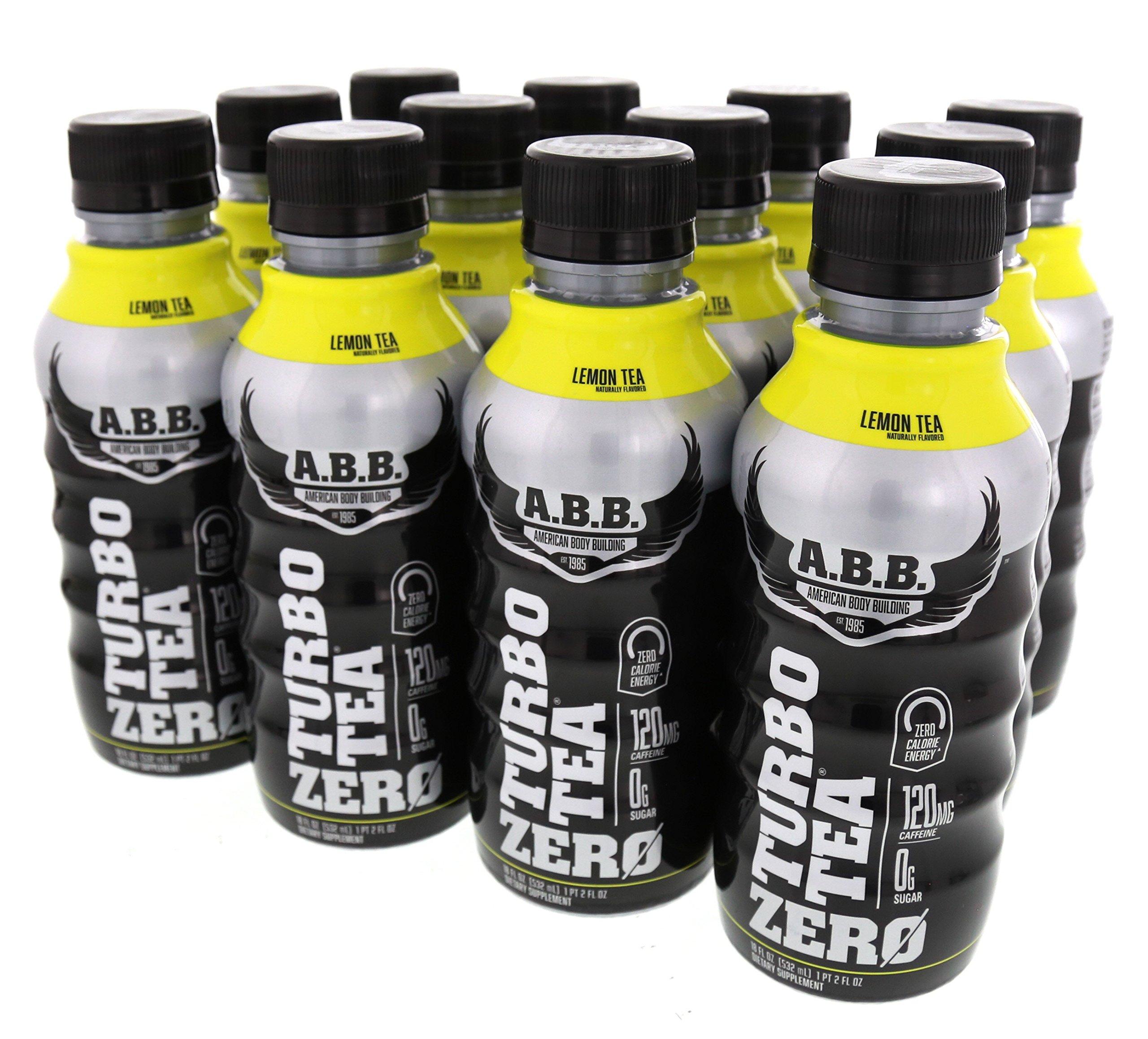 ABB Turbo Zero Tea 12/18oz Bottles Lemon Tea