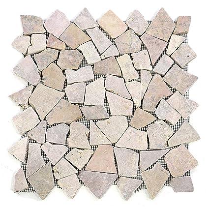 Turbo Divero 9 Fliesenmatten Naturstein Mosaik aus Marmor für Wand und ZO55