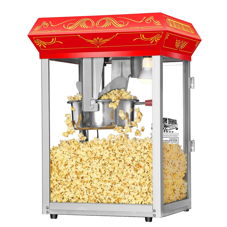 Amazon.com: Great Northern Popcorn Red Good Time Popcorn Popper Machine, 8  Ounce: Kitchen U0026 Dining