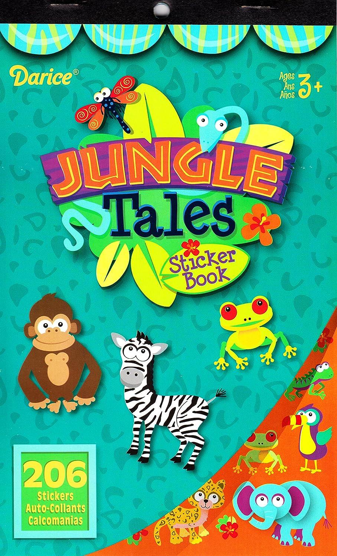 4 Books 1170 Stickers SG/_B075FZ2TQX/_US Darice Jungle Animals Assorted Sticker Books for Kids