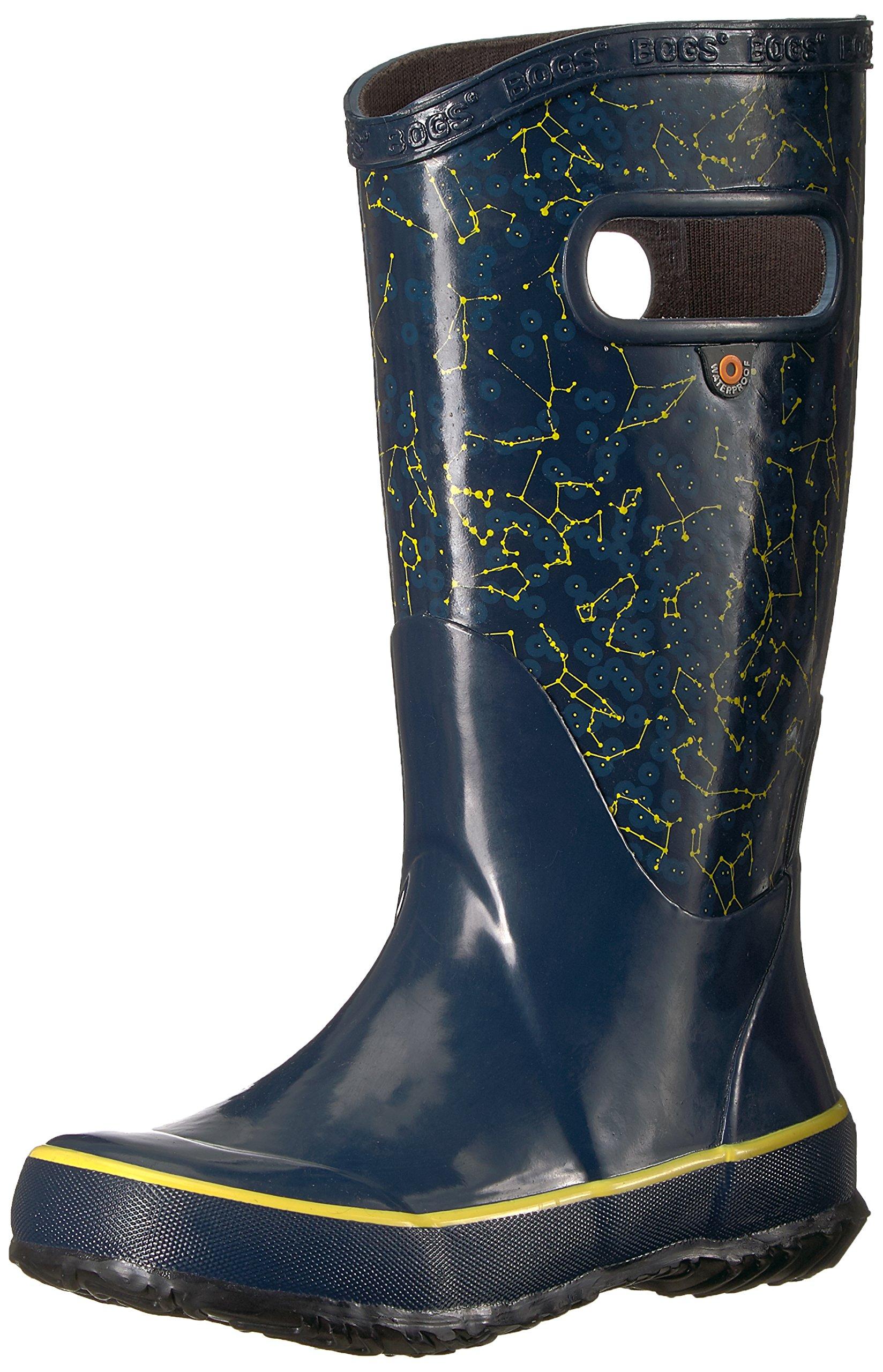 Bogs Kids Rubber Waterproof Rain Boot for Boys and Girls, Constellations Print/Dark Blue/Multi, 9 M US Toddler