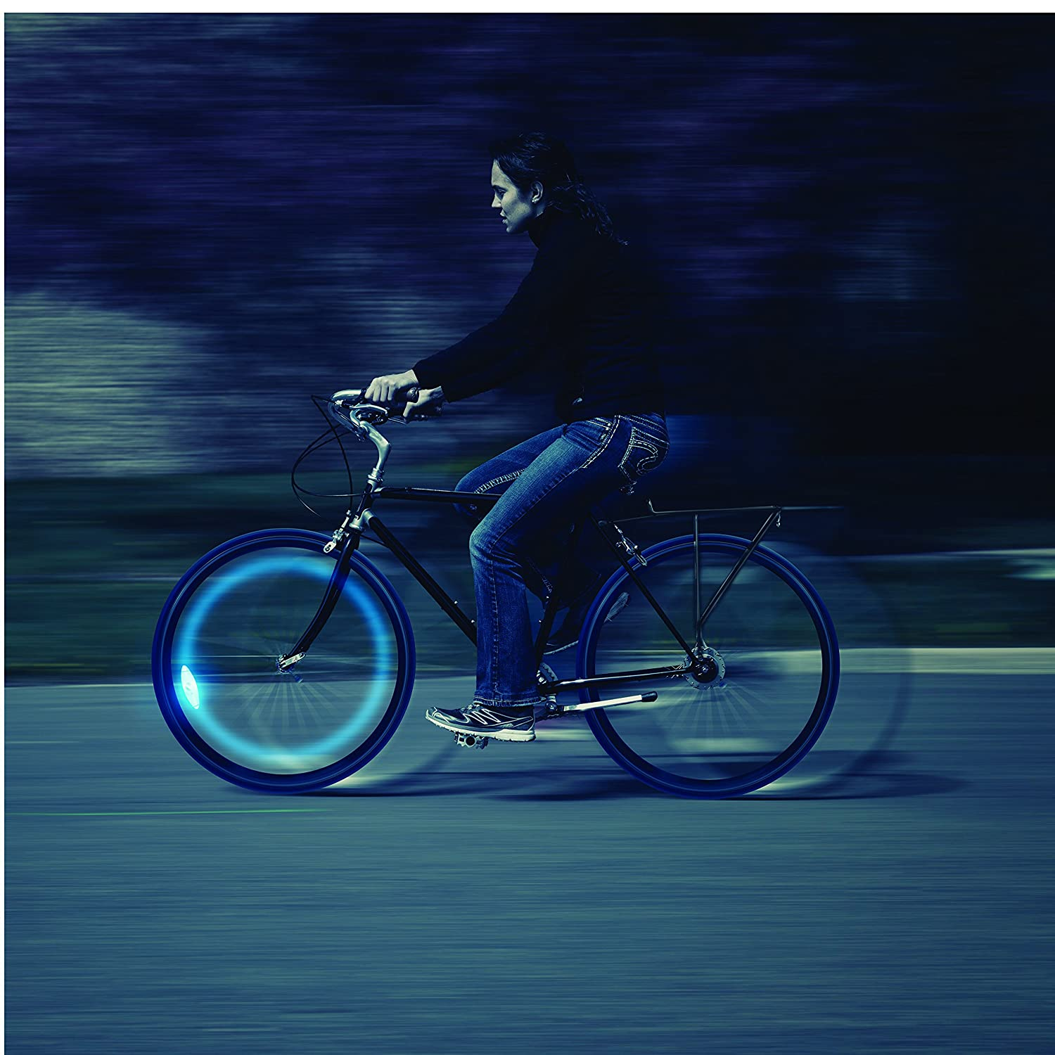 Nite Ize Spokelit Led Bicycle Spoke Light For Bike Wiring Switch Common Including How To Wire A Two Way Ehow Wheels Blue Headlights Sports Outdoors
