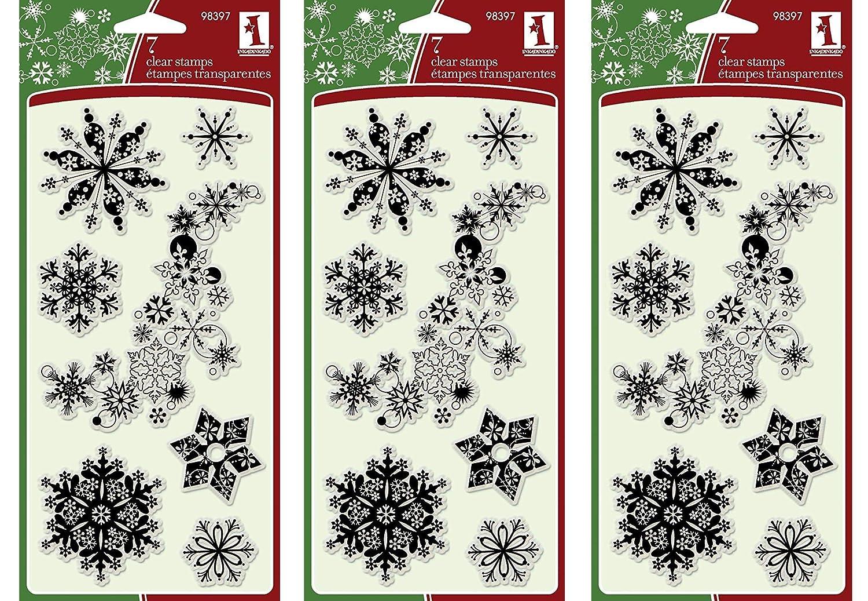 Inkadinkado Christmas Winter Holiday Stamper Set 8 Pieces
