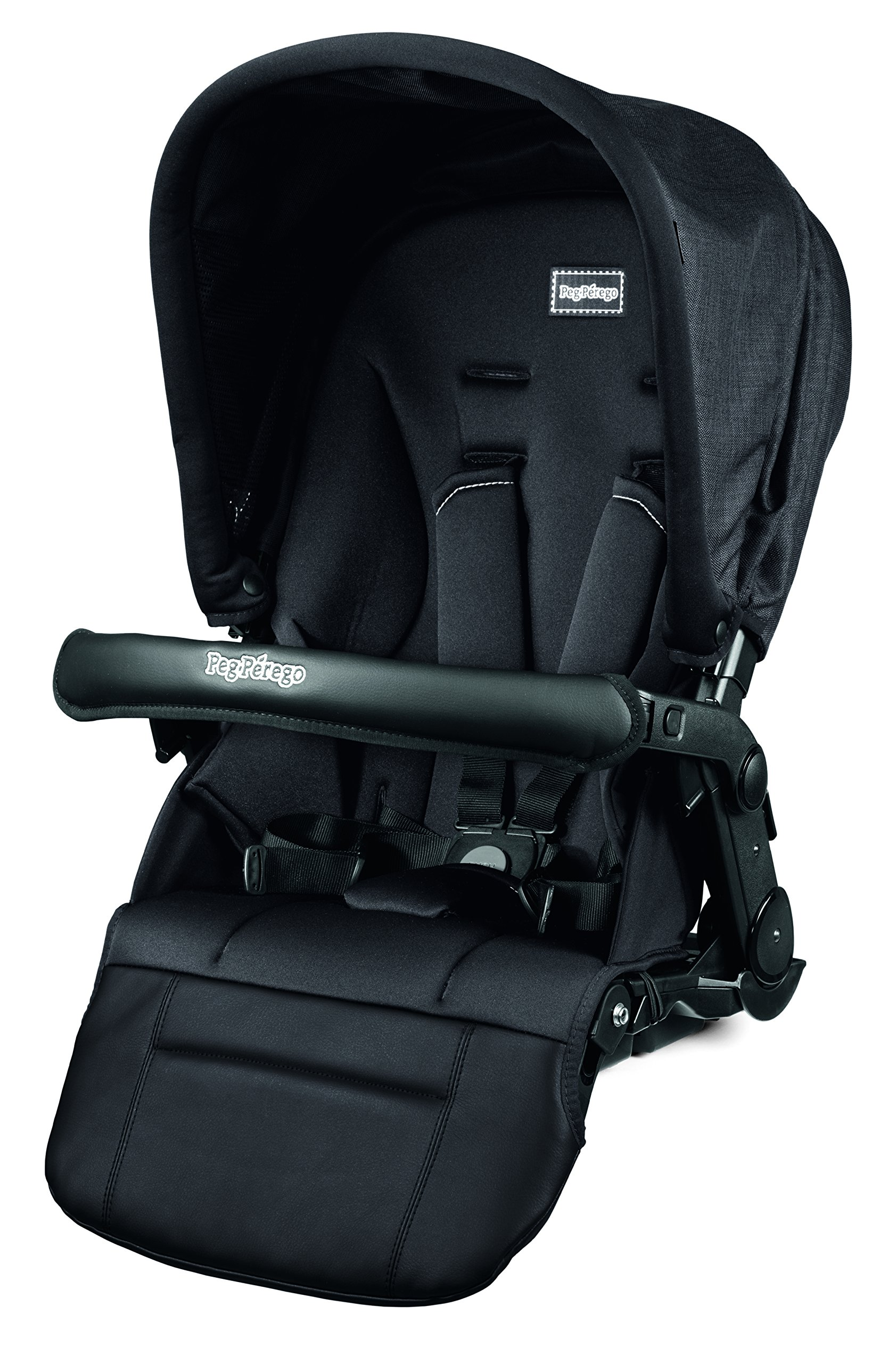 Peg Perego Pop-Up Seat for Team, Duette and Triplette Strollers, Onyx