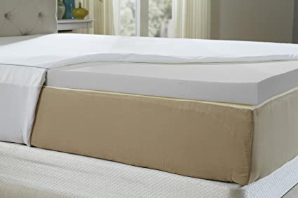 thick gray shop density usa queen mattress inch made in pad visco pound size bed memory the topper foam elastic
