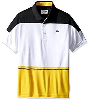b1cf65fd Amazon.com: Lacoste Men's Tennis Short Sleeve Color Block Ultradry T ...